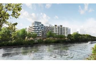 Eco construction : un projet pionnier d'�coquartier fluvial sur l'Ile-st-Denis